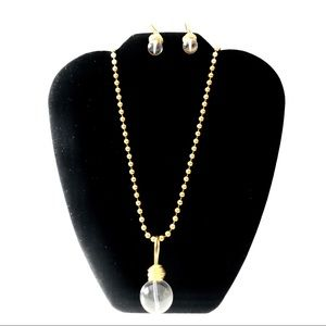 Jewelry - Acrylic and Gold Necklace & Earring Set